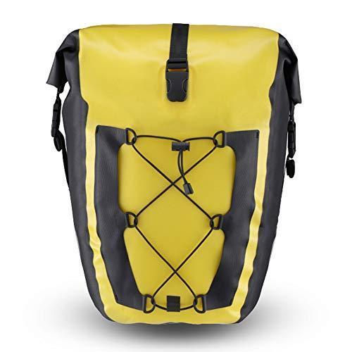 海外限定 MSQL Bike Pannier Waterproof Large Capacity Cycling Rear Seat Bag, Mountain Road Bike Trunk, Exploration Tool Accessories Sport