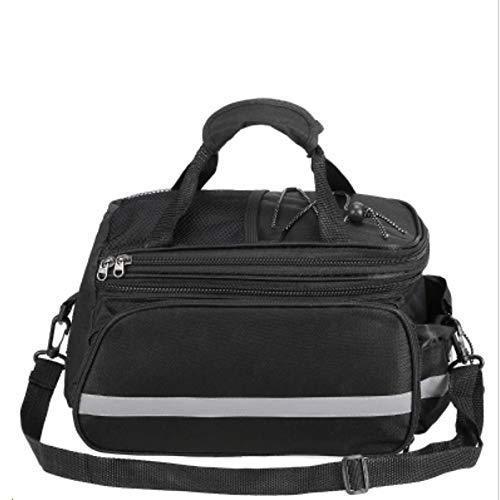 海外限定 Cycling Backpack Bicycle Rear Seat Bag Multifunction Waterproof Bag Bike Rack Bag with Rain Cover (Color : Black, Size : One Si