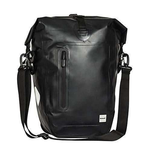 海外限定 STKASE 25L Bike Pannier Bag Waterproof Bicycle Rear Seat Trunk Bag Cycling Storage Pouch Shoulder Bag with Rubber Handle & Shou