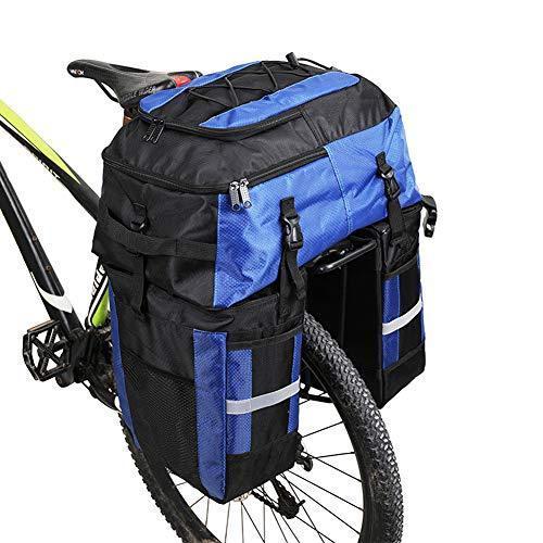 海外限定 MHGLOVES Multifunctional Bicycle Pannier Bags, 3 in 1 Tear-Resistant 70 L Large Rear Seat Bag, Blue