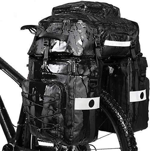 海外限定 DJCALA Bicycle Panniers Bag Bike Saddle Bag 75L Large Capacity Waterproof Bicycle Rear Seat Bag 3 in 1 Multifuction Bike Tourin