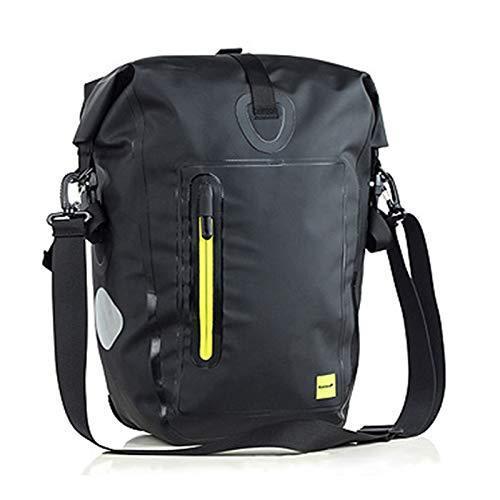 海外限定 FJYDM Bicycle Rear Shelf Bag, Mountain Bike Back seat Bag, Waterproof / 25L Large Capacity/Can be Carried on The Shoulder/Can b