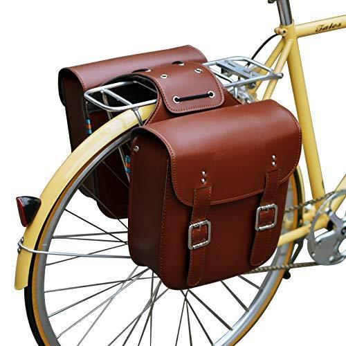 海外限定 Retro Bicycle Rack Bag Leather Rear Rack Bike Bags Robust Rear Seatpost Bag for Retro Bicycle Saddle Rack Accessories