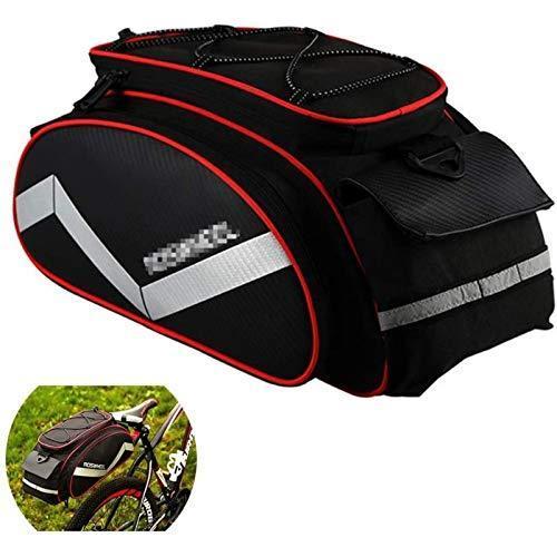 海外限定 ANXIANG Bicycle Carrier Bag, Bicycle Frame 12L Bicycle Rear seat Bag MTB Road Bicycle Rack Trunk Bag Pannier Tote Bag (Color :