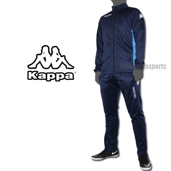 kappa カッパフットボール ジャージ上下 ニットフルジップジャケット&トレーニングパンツ KF912KT16-NV-KF912KB15-NV1 サッカー