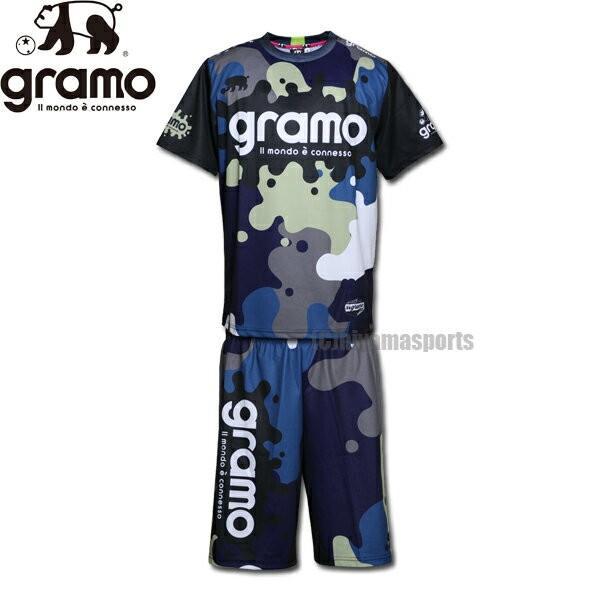 gramo グラモ プラシャツ&プラパンセット splash2 P-053-NVY-HP-033-NVY サッカー フットサル