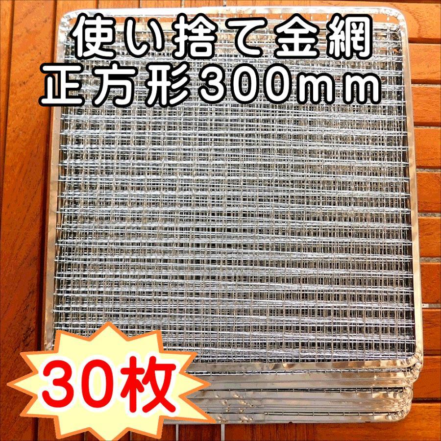 焼き網 BBQ 使い捨て金網正方形300mm (30枚入り) :G1729:ひよりネット 通販 Yahoo!ショッピング