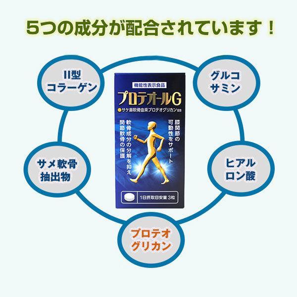 新商品【送料無料】プロテオールGII 90粒(約30日分) 機能性表示食品・プロテオグリカン・サプリ・膝・関節|hizuya|05