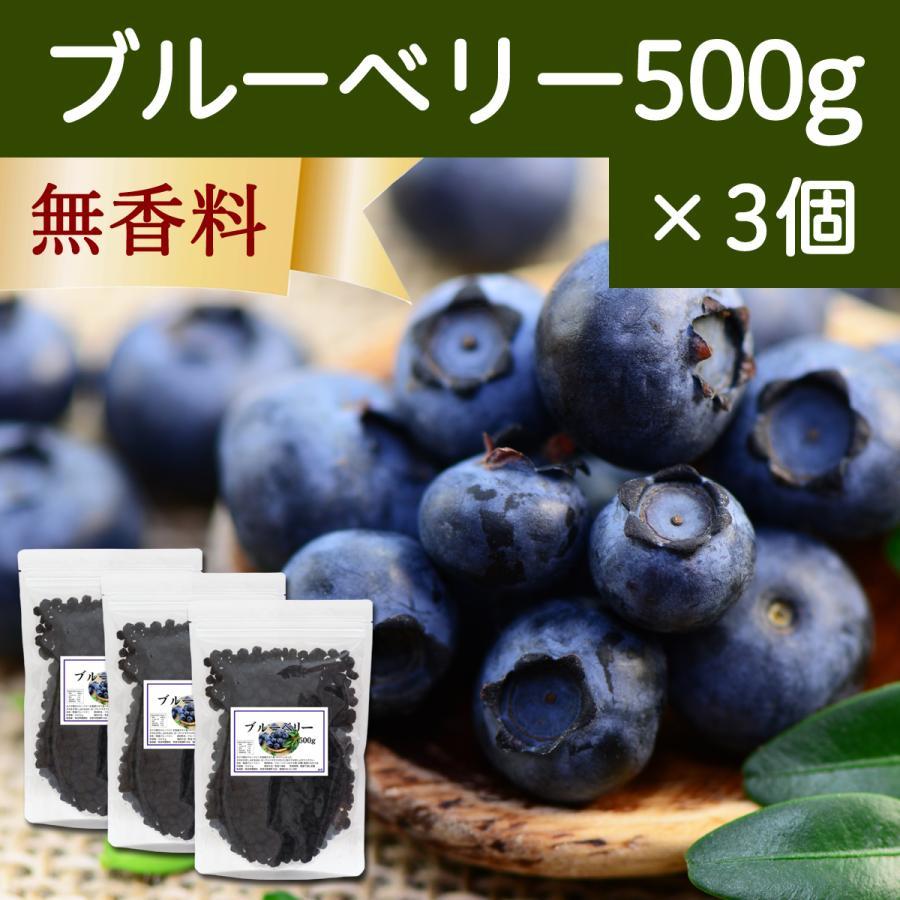 ブルーベリー500g×3個 ドライフルーツ チャック付き袋|hl-labo