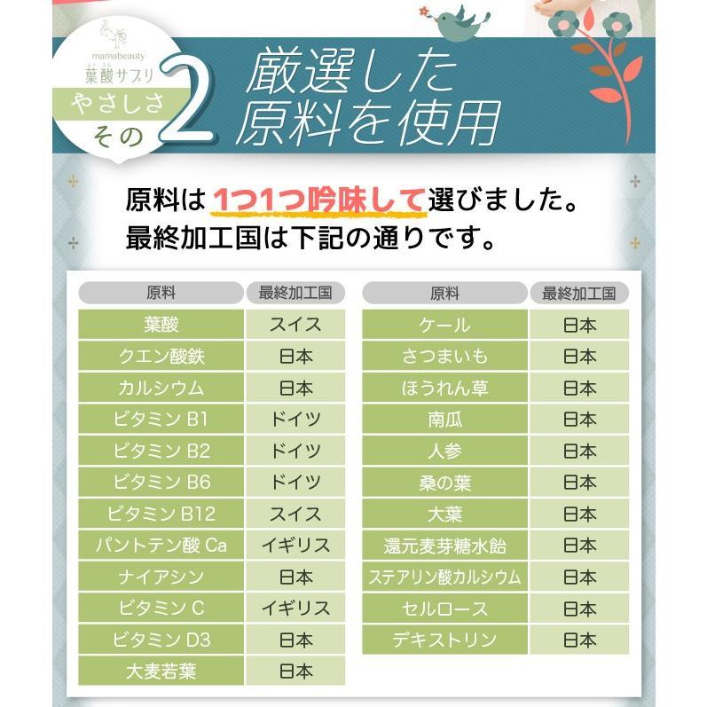 葉酸 葉酸サプリ 葉酸サプリメント タブレット 妊娠 妊婦 妊活 日本製 ママビューティ葉酸サプリ ネコポス便 hlife 09