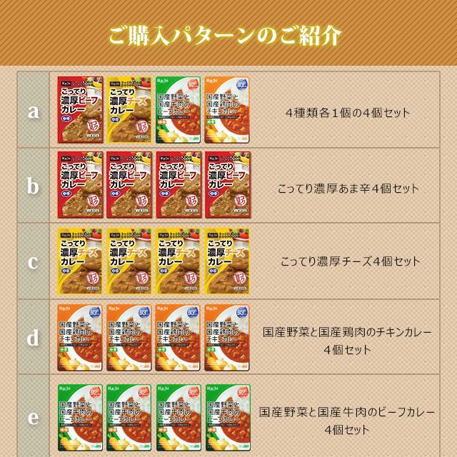 レトルトカレー 選べる 詰め合わせ 4個 セット 送料無料 非常食 辛い 甘口 中辛 辛口 Hachi ハチ食品 paypay Tポイント消化|hmgift|05