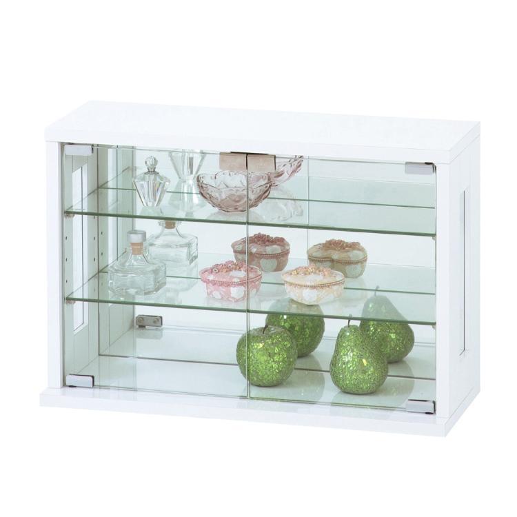 卓上コレクションケース横型(ホワイト・白) KRO-27054 クロシオ