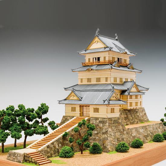 1/150 小田原城 UDJ-S-ODAWARA-150 木製模型