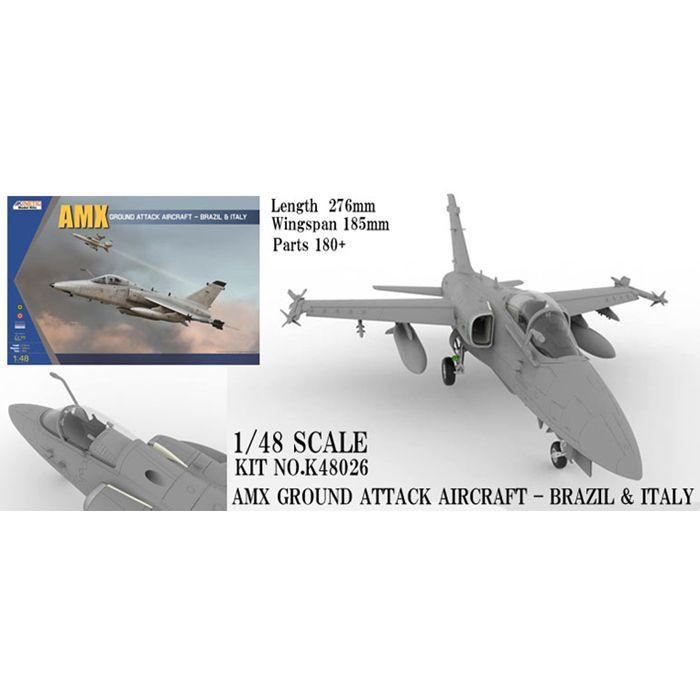 1/48 AMX 攻撃機 GROUND ATTACK AIRCRAFT-BRAZIL&ITALY (K48026) キネックス