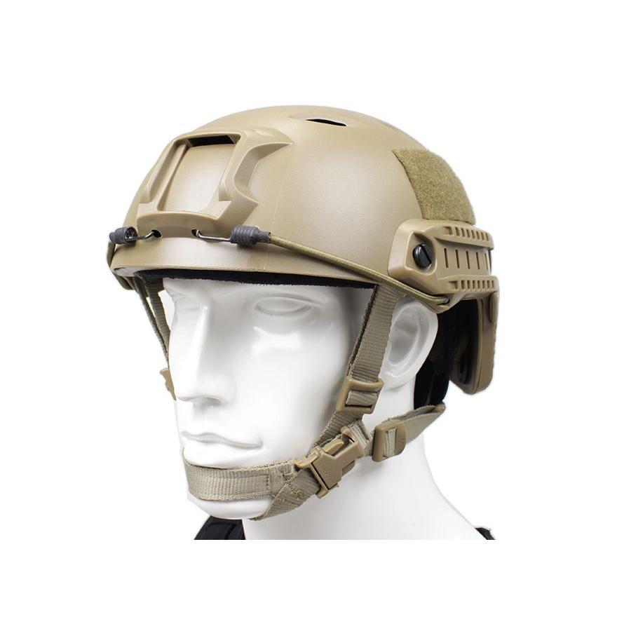 サバゲー装備に EMERSON GEAR ファースト BJ ヘルメット DE 軽量シェル採用!ARCレール標準装備/エマーソンギア
