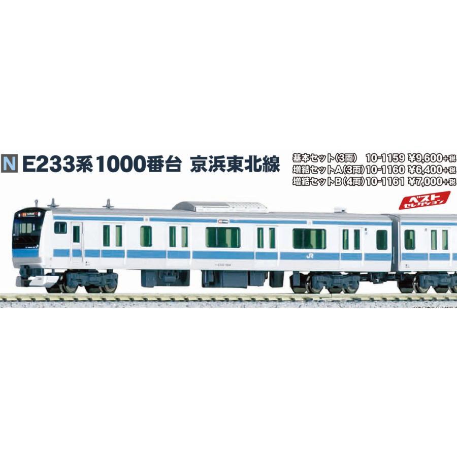 E233系1000番台京浜東北線 増結セットA(3両) KATO 10-1160 K-86