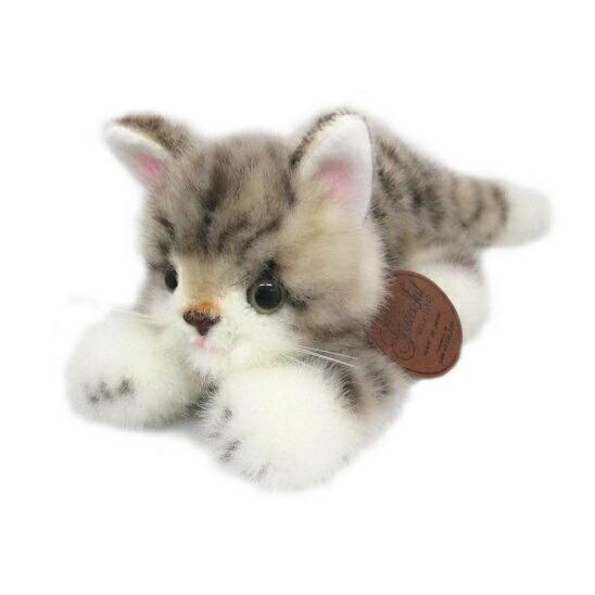 グレイスフル 復刻 こねこのミーヤ グレー 這い ぬいぐるみ 高さ9cm 猫[送料無料 グッズ おもちゃ 雑貨 ギフト プレゼント]|hobi-suto