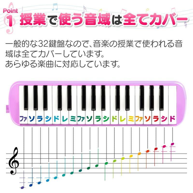 鍵盤ハーモニカ ケース ホース 吹き口 32鍵盤 卓奏用パイプ 卓奏用ホース 立奏用吹き口 軽量 32鍵盤ハーモニカ お名前シール クロス プレゼント 贈り物 おもちゃ hobinavi 05