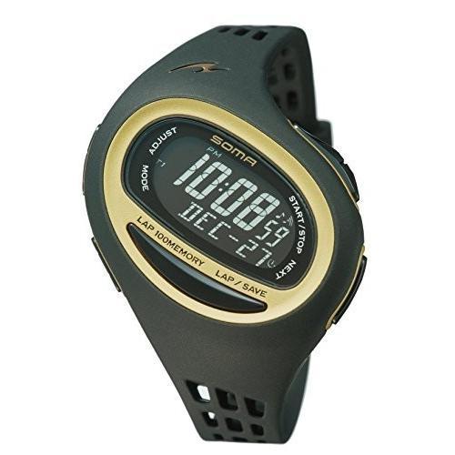 SOMA(ソーマ) ランニングウォッチ RunONE 100SL ランワン100SL NS09006 ブラック×ゴールド MEDIUM