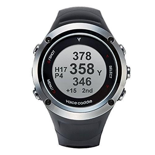 voice caddie(ボイスキャディ) ボイスキャディ T2A ブラック リストウォッチ型GPSゴルフナビ T2A 時計モード稼働時間:約30日