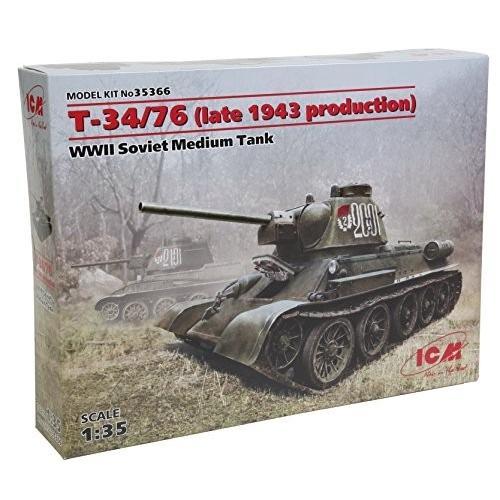 ICM 1/35 ソビエト Т-34/76 1943 後期型 プラモデル
