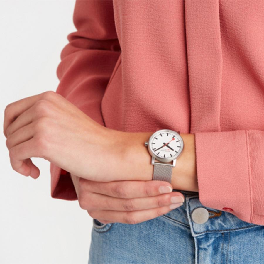 MONDAINE モンディーン SBB evo2 エヴォ2 35mm メッシュ MSE35110SM クォーツ 腕時計 スイス国鉄時計|hokindo1904|03