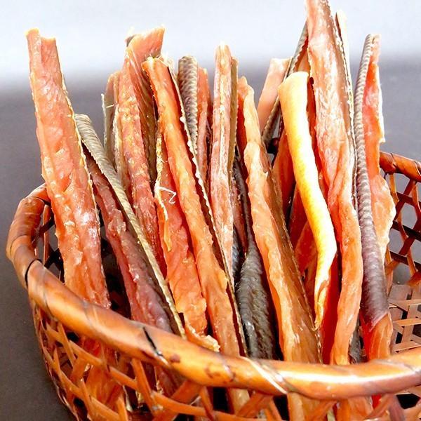 メール便 送料無料 食品 北海道産 鮭とば約1kg(500g×2袋) (熟成乾燥タイプ) / 大容量 業務用 海鮮 珍味 おつまみ 北海道|hokkaido-gourmation|02