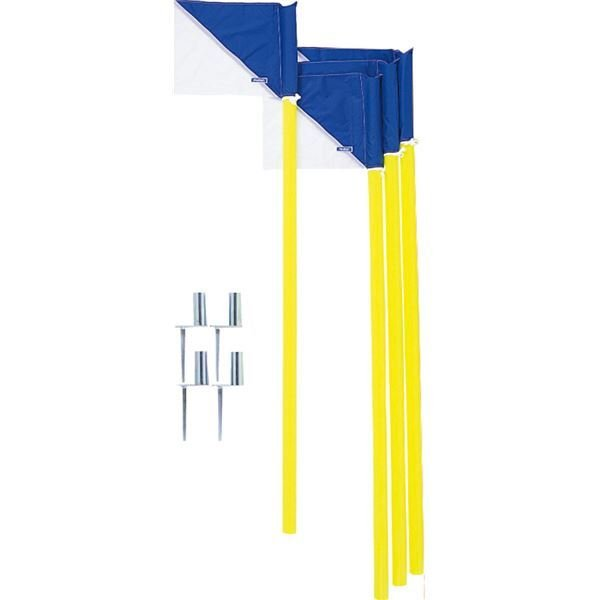 まとめ買い 〔モルテン Molten〕 コーナーフラッグDX/サッカー用品 〔4本セット パイプ:直径43mm×160cm フラッグ:39×29.5cm
