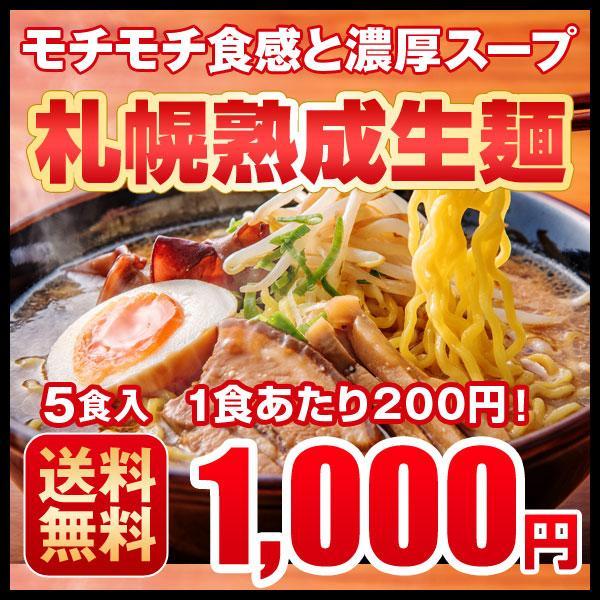 人気急上昇 ラーメン お取り寄せ 安売り 1000円 北海道 5食セット 札幌熟成生麺 醤油 みそ 塩 5種スープ食べ比べ 送料無料 ポッキリ