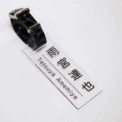 ゴルフ ネームプレート スクエアタイプ カラー文字 ブラック 通信販売 超激得SALE