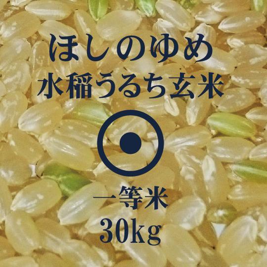 令和2年産 ほしのゆめ 30kg 玄米 一等米 北海道米 当麻産籾貯蔵米|hokubei-shop