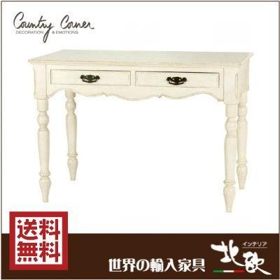 アンティーク クラシック デスク フレンチシャビー 机 カントリーコーナー 白家具 姫家具 かわいい