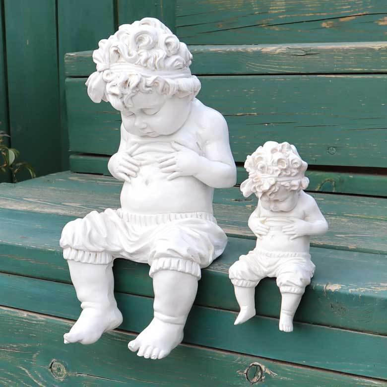 内祝い ガーデン オーナメント 置物 メタボくん セット 天使の置物 出荷 メタボ 天使 エンジェル 男の子 エンゼル ガーデンオーナメント