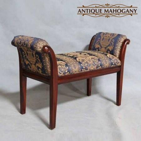 スツール 木製 ブルー 椅子 椅子 マボガニー
