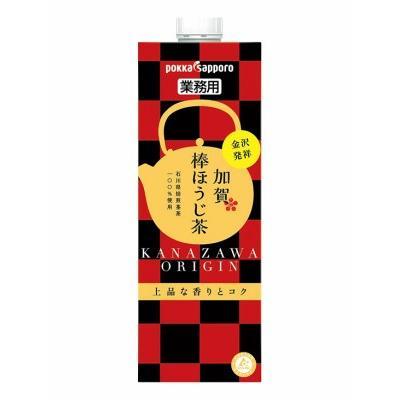 ポッカサッポロ 業務用 加賀棒ほうじ茶 1L 6本(1ケース)|hokuriku-umaimon