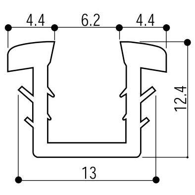 大規模セール 入手困難 YKKAP窓サッシ 部材 ガラスビート カット品:11mm開口 K-7417 ガラス厚6.8mm用 1m