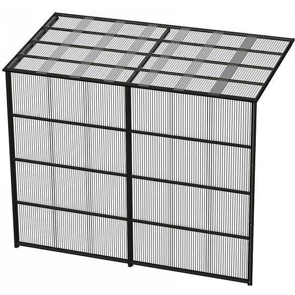 YKKAPウォールエクステリア 囲い ストックヤードII 積雪〜20cm地域用 基本セット[H=9尺]:奥行861mm[幅7320mm×高2785mm] YKK 波板囲い 簡易物置 壁