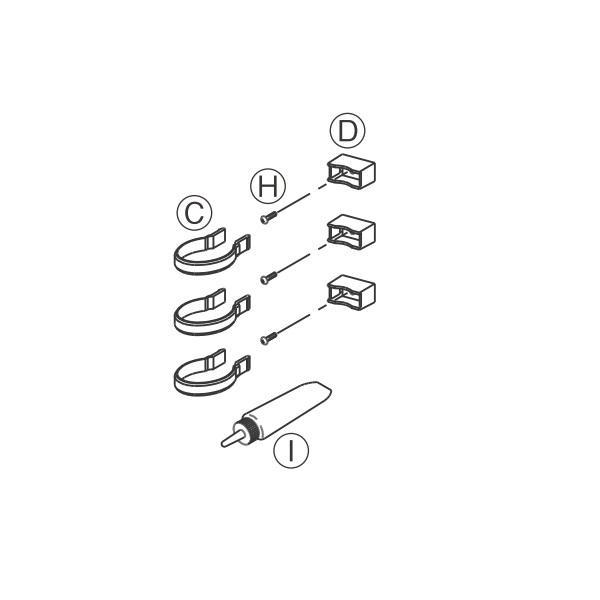 YKKAPガーデンエクステリア 倉庫 大注目 汎用部品 雨樋:雨樋セット