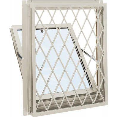 【一部予約販売】 YKKAP窓サッシ 装飾窓 エピソード[複層防音ガラス] 面格子付内倒し窓 ラチス格子[透明5mm+透明3mm]:[幅730mm×高570mm], ペンネペンネフリーク PLUS c6853568