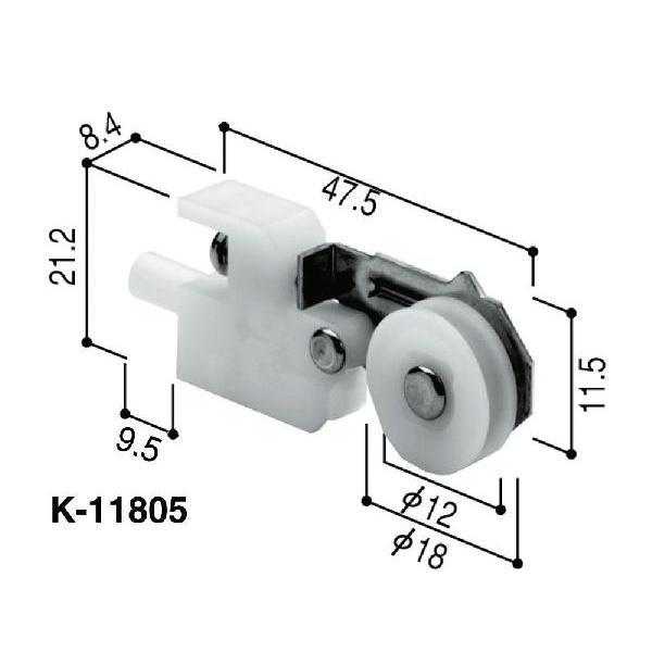 ゆうパケット メール便 売れ筋ランキング 対応 最安値に挑戦 YKK網戸用戸車 左右セット HH-T-0011