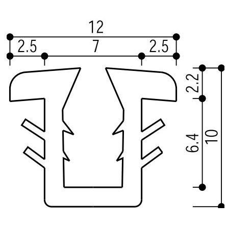 YKKAP窓サッシ 部材 ガラスビート カット品:9mm開口 激安価格と即納で通信販売 1m ついに再販開始 ガラス厚3mm 4mm用 K-6426