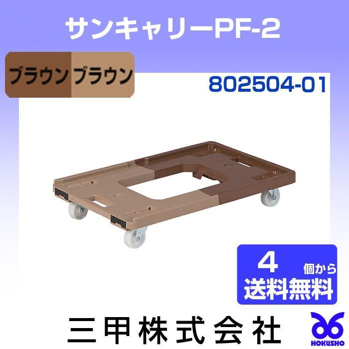 サンコー 三甲 サンキャリーPF-2 ブラウン/ブラウン 外寸:643 × 419 × 119 mm 有効内寸: [802504-01](同商品4個で送料無料)