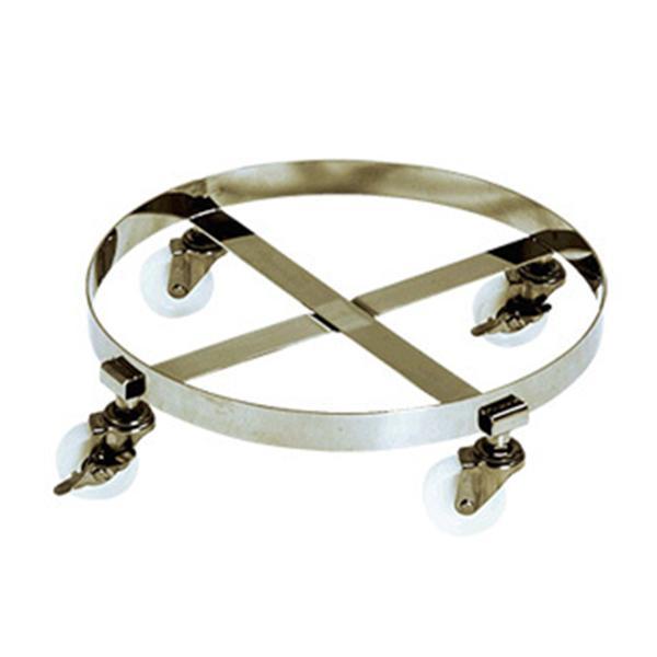 テックサス 容器専用台車(丸型) CCM-510D 2台セット SUS 台車