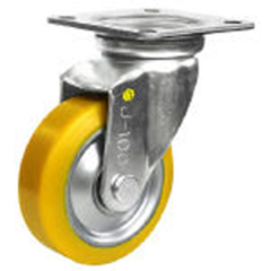 キャスター キャスター キャスター EUWJ-200 自在キャスター 静電気帯電防止キャスター 中荷重用 スチール製金具 シシク c48