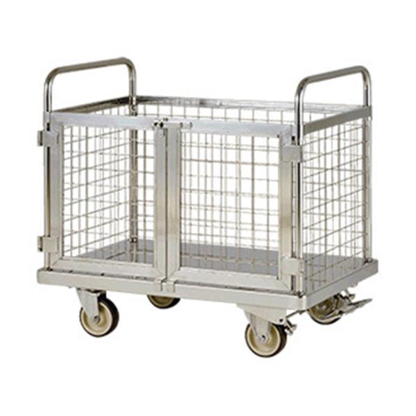 テックサス 金網付台車フットブレーキ付 MD-1275E-FB SUS 台車