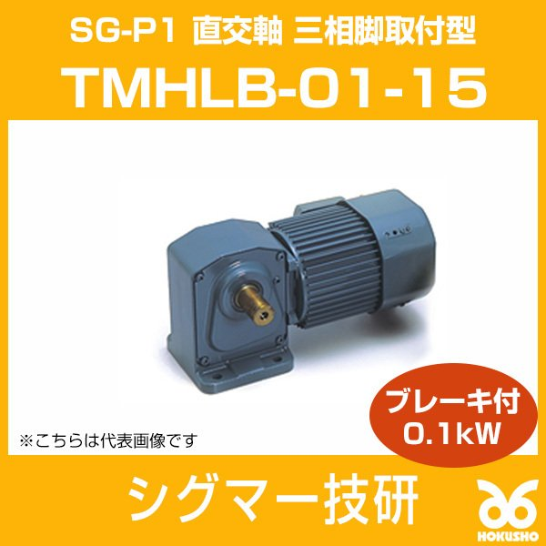 TMHLB-01-15 SG-P1 ギヤモーター 直交軸 三相脚取付型 三相脚取付型 三相脚取付型 (ブレーキ付) 0.1kW シグマー技研 7d2