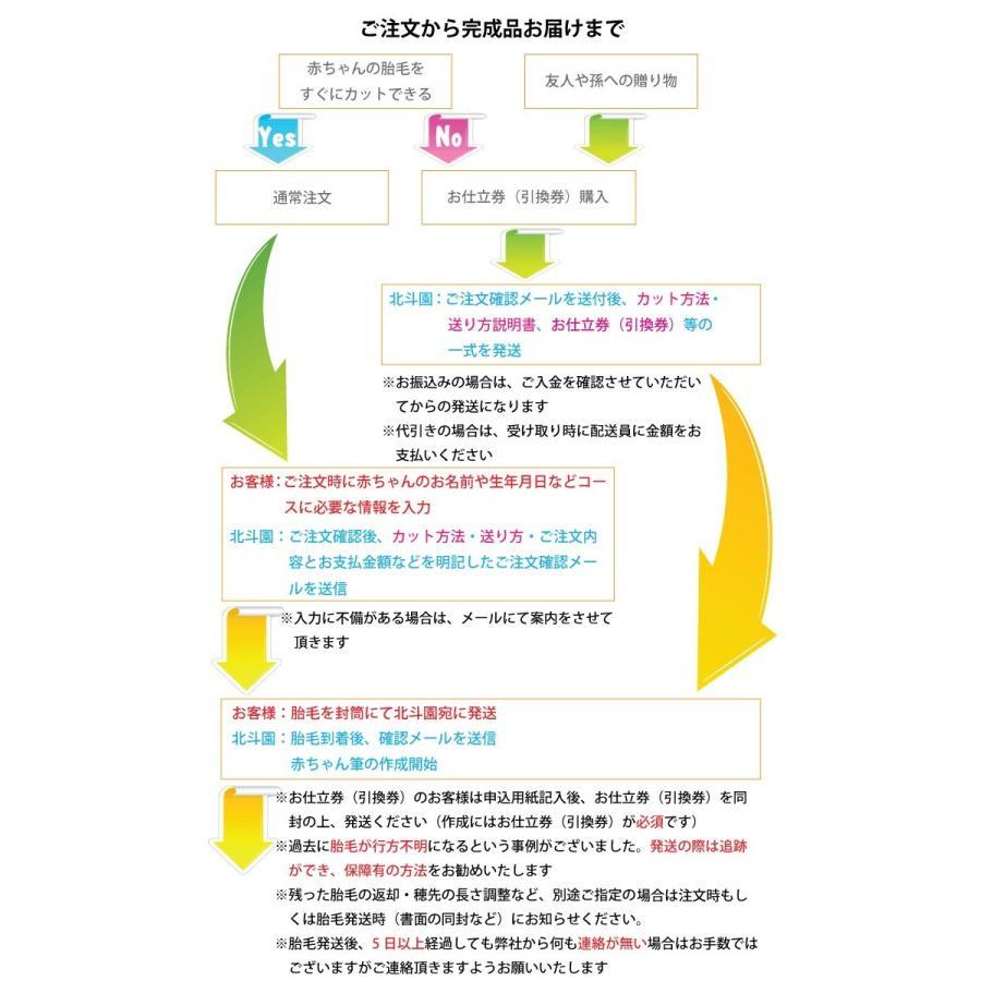 【筆祭りセール】 赤ちゃん筆(胎毛筆) 虹コース/熊野筆の技術で制作/出産祝いギフトにも hokutoen 05