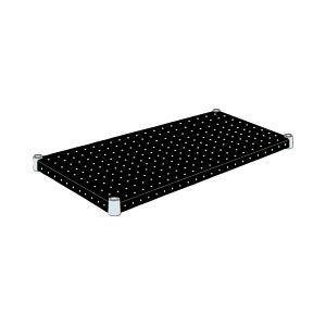 エレクター パンチングシェルフ〔ブラック〕 W60×D35