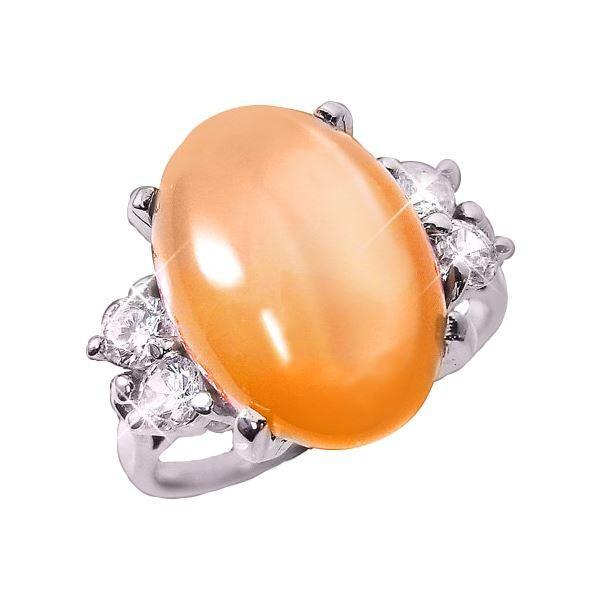 安い購入 オレンジムーンストーンリング 15号, セレクト雑貨ムー c086ebab
