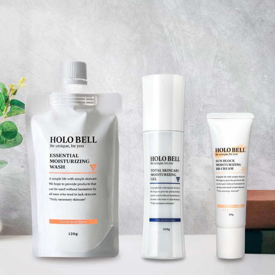 公式 HOLOBELL ホロベル メンズ スキンケア フェイスケア3点セット 洗顔料 男性用 オールインワン化粧水 ニキビ肌 送料無料 激安 お買い得 キ゛フト BBクリーム 脂性肌 通常便なら送料無料 敏感肌 乾燥肌